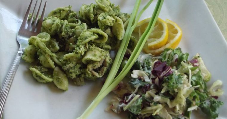 Eat your Hat – with Garlic Scape Pesto